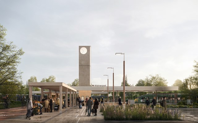 Railway Station Visualisation - Approach ©7N Architects
