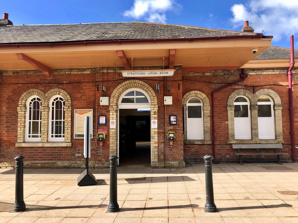 Current entrance to Stratford-upon-Avon station