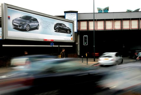 Roadside advertising South Lambeth Road, London