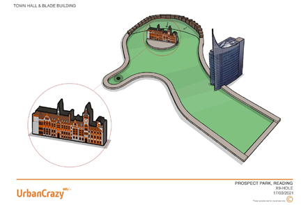 Mini-golf designs: Town hall and Blade: Mini-golf designs: Town hall and Blade