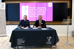 Mitie resigns the Armed Forces Covenant : (From L-R) Air Marshal Richard Knighton CB, Deputy Chief of the Defence Staff (Finance and Military Capability) and Phil Bentley, Mitie CEO