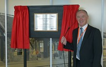 Sir Richard Leese, leader of Manchester City Council, officially opens the Manchester Rail Operating Centre (ROC)