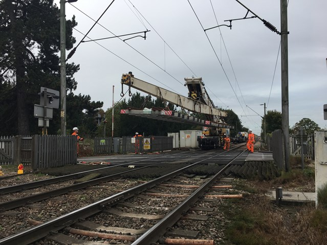 New track installed between Norwich and London to make railway services more reliable: New track being delivered to site on the Kirow