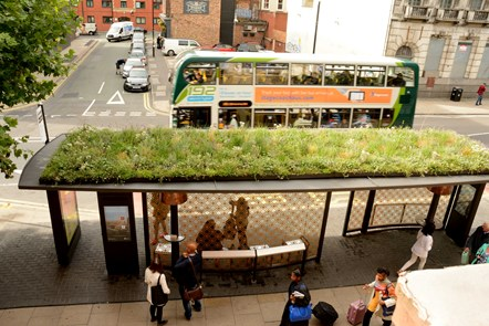 Bus shelter of the future, Manchester City Centre