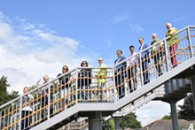 Network Rail is joined by Dorset County  Council, Purbeck District Council and Wool Parish Council for the opening of the new footbridge at Wool 3