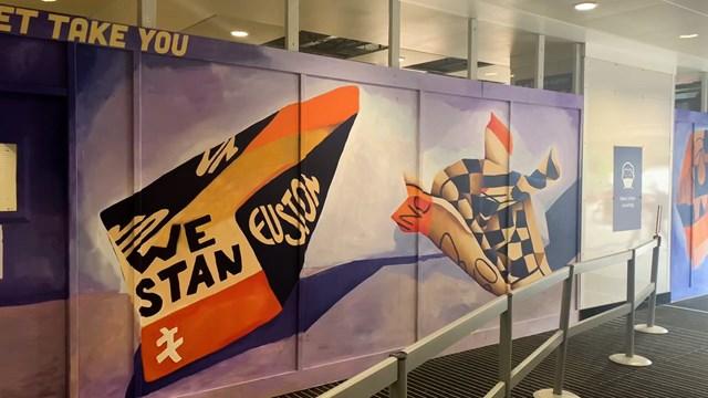 Euston mural inside concourse