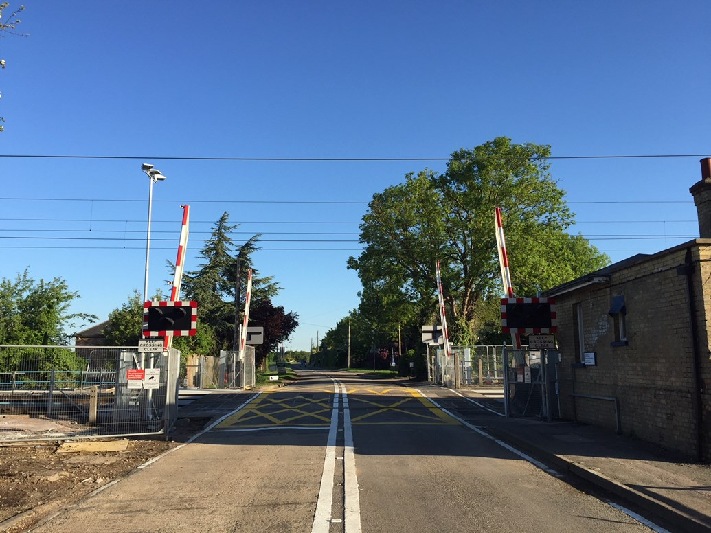 Safety improvements complete at Cambridgeshire level crossing: Shepreth Level crossing after