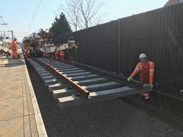 WestHam track renewals Easter Saturday