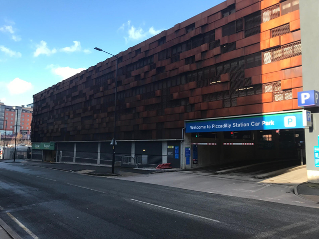 Network Rail supports key workers with free parking: Piccadilly car park