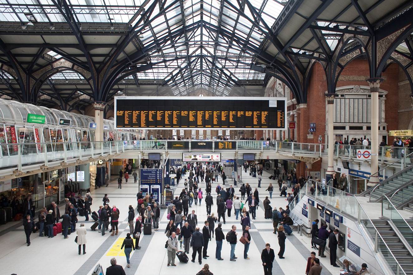 Track repaired at Liverpool Street to allow services to resume from Monday: London Liverpool Street station