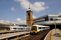 Times are changing on Southeastern on Sunday: have you checked yours yet?: Train pulling out of CST station