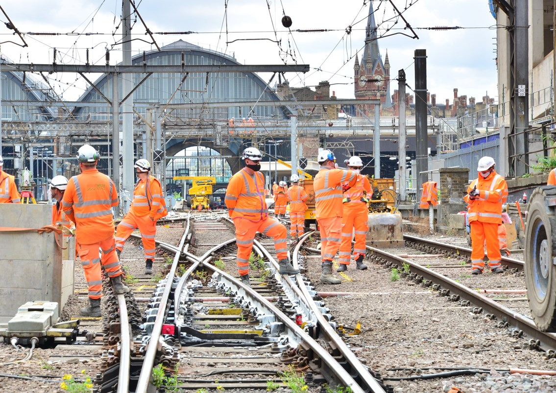 No trains to or from London King's Cross on November weekend and during six-day closure at Christmas as Network Rail makes progress on £1.2billion East Coast Upgrade: No trains to or from London King's Cross on November weekend as Network Rail makes progress on £1.2billion East Coast Upgrade