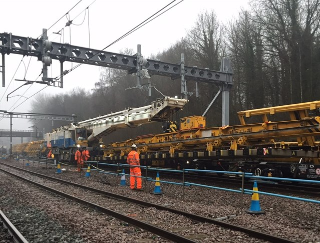 Major improvements for East Anglia's rail passengers as half-way point is reached in 10 weekends of upgrades: Junction remodelling work at Shenfield