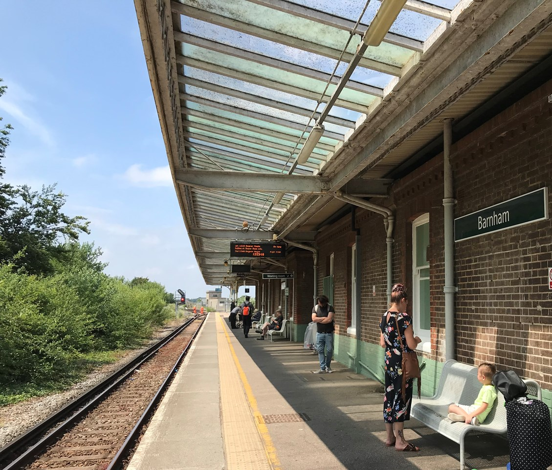 Impacts to West Coastway passengers and diversions for motorists as multi-million-pound line upgrade work kicks off: Barnham station