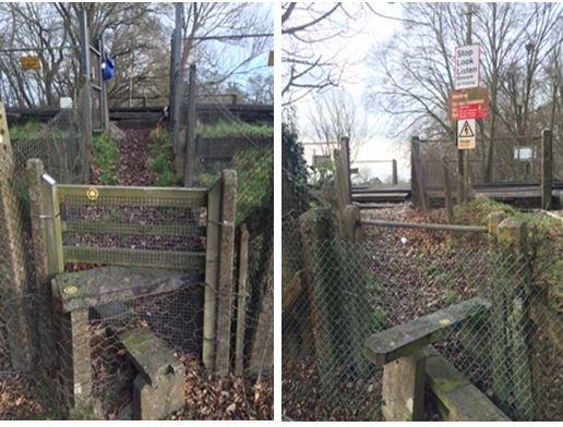 Fouchams level crossing near Hildenborough