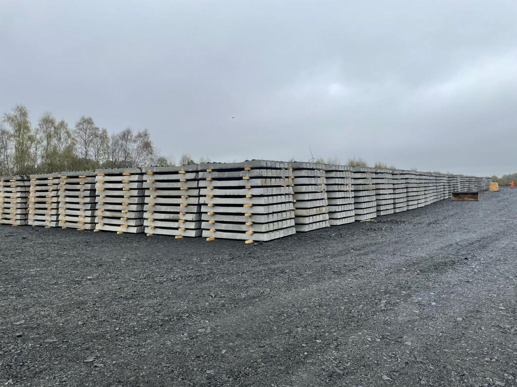 Former railway yard supports work to reinstate Levenmouth rail link: Sleepers at Thornton Yard in Fife