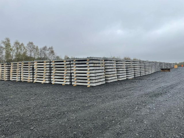 Sleepers at Thornton Yard in Fife: Sixteen thousand sleepers being stored in Thornton Yard, Fife will be used to create the new Leven rail link