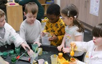 Early Learning and Childcare Expansion Programme: Children take part in a science lesson at Tower View Nursery in Glasgow