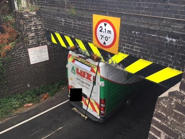 Motorists urged to size up their vehicles as Cambridgeshire railway bridge is hit for 15th time: Stonea Bridge bash