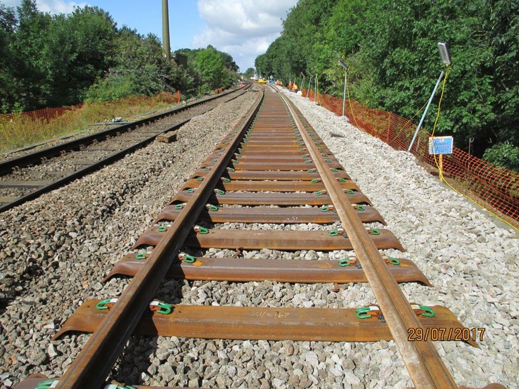 New track to be installed at Ipswich and Colchester to improve reliability on the main line into London: New track laid at Ipswich
