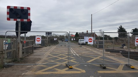Balderton level crossing will reopen on Friday 24 March