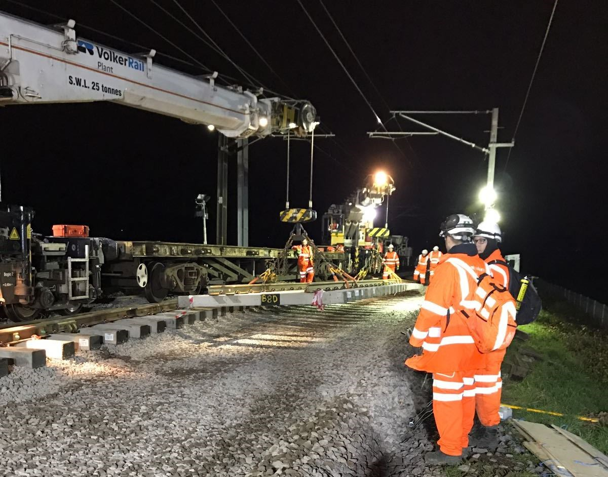 Christmas sees Cambridge North station 80% complete: Cambridge North track laying