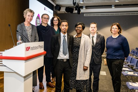 World Of Work Launch 2: Panellists at the World Of Work launch event included (from left) Jo Dibb, Rachel Engel, Cllr Asima Shaikh, Usama Mohamed, Jenny Lewis, Matthew Blood and Rachel Youngman.