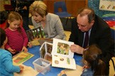 Scotland's referendum - one year to go: First Minister Alex Salmond and Deputy First Minister Nicola Sturgeon visited North Edinburgh Childcare with exactly one year to the independence referendum in 2014