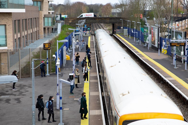 More trains back in Southeastern's timetable from Sunday 16th May: Kidbrooke 26032021-009