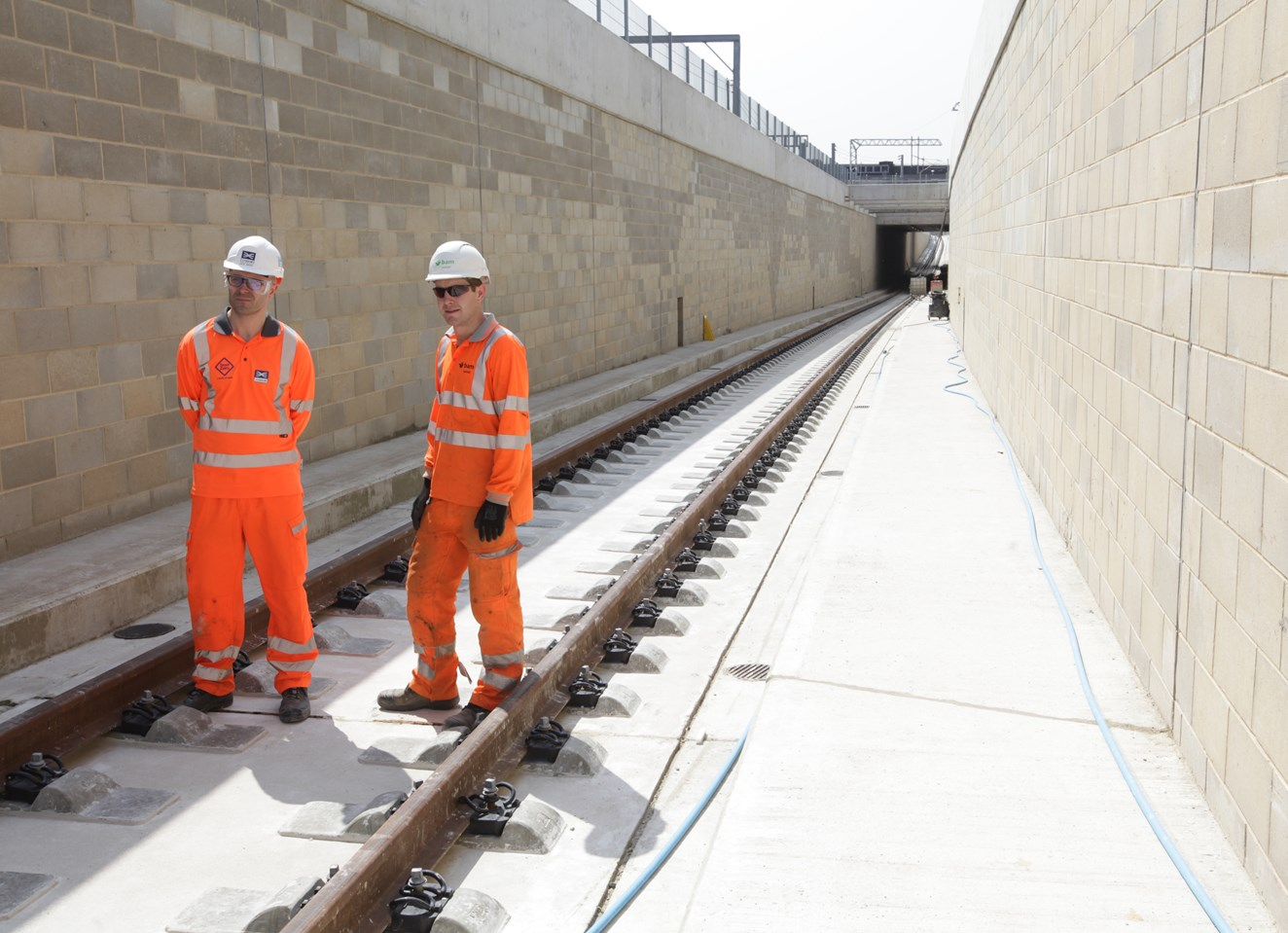 New train underpass at Acton reaches structural completion: Tracks complete at Acton Diveunder 240071