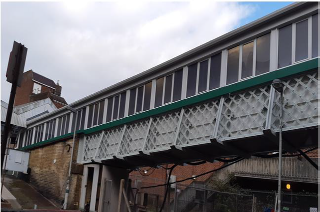 £765k upgrade of the footbridge at Caterham station in Surrey, first built in 1900: Footbridge at Caterham station