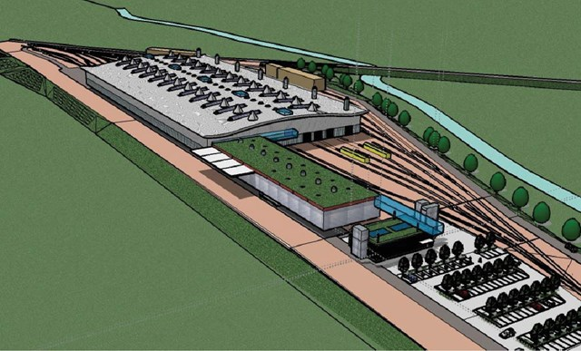 Woodhouse Junction - Artist's impression: An artist's impression of how the National Engineering Centre at Woodhouse Junction might look.
