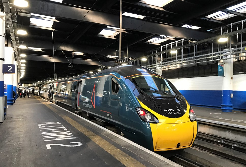 Customers advised to make reservation before travelling: Pendolino - Euston Station - Platform 2