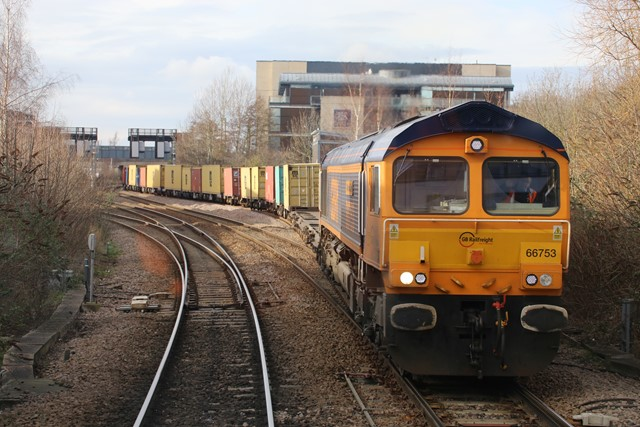 Freight containers at Lincoln