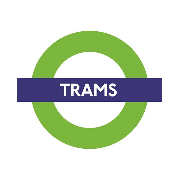 TfL Press Release - UK's first automatic braking system for trams to be installed on London's network this year: TfL Image - Trams Roundel