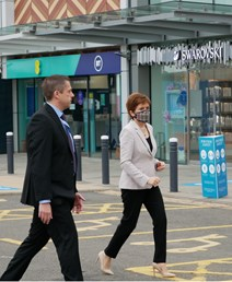 First Minister visits New Look at Fort Kinnaird Retail Park: First Minister visits New Look at Fort Kinnaird Retail Park