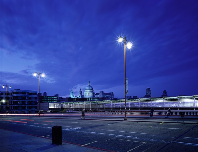Blackfriars Thameslink redevelopment: Conceptual image of what Blackfriars could looklike (night) (part of the Thameslink Programme)