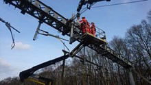 Shenfield overhead wire installation