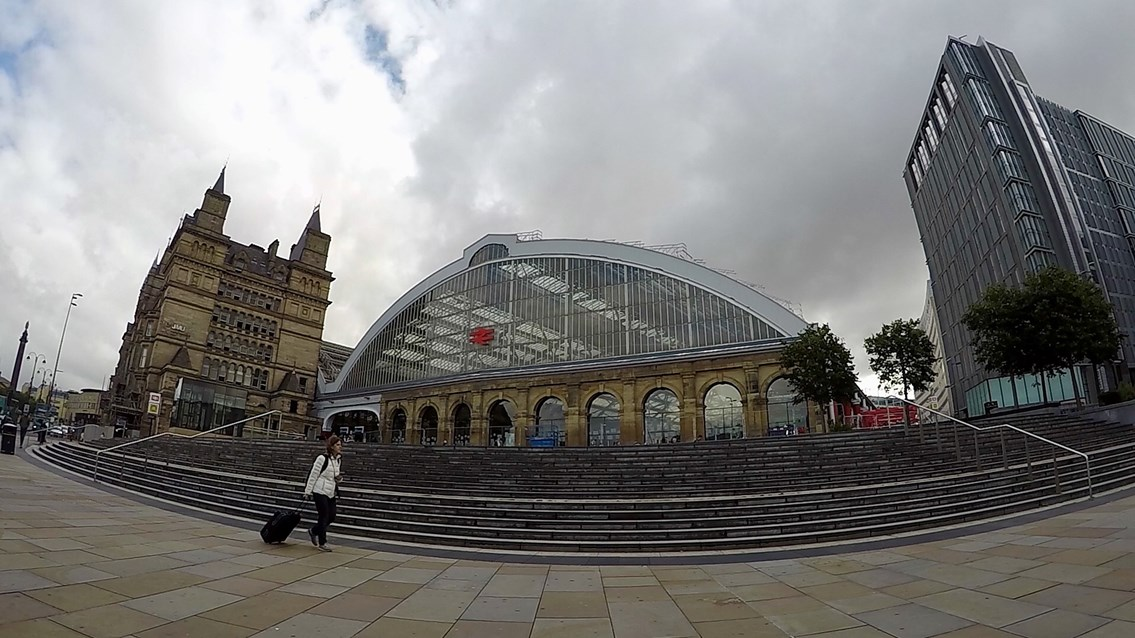 Four week reminder for passengers before signalling upgrade closes Liverpool stations: Liverpool Lime Street exterior