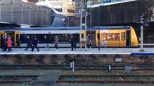 Train passengers warned of very busy trains this Saturday due to strike action: West Midlands Railway service at Birmingham New Street station