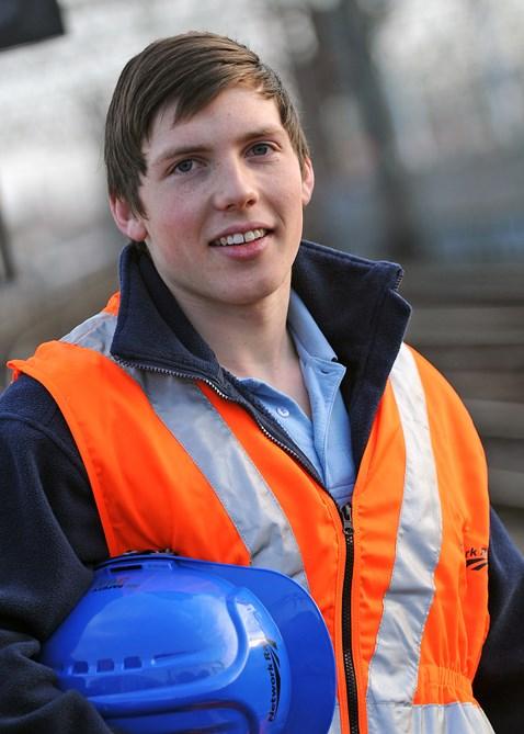 Adam Renney Network Rail signalling apprentice Tyneside