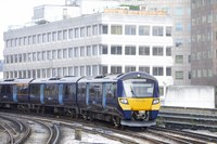First day of services on SE Trains, as Southeastern enters new ownership: Class 707 exterior-2