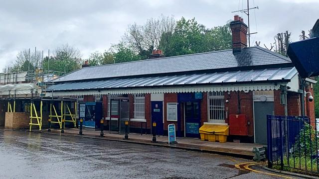 Gerrards Cross station upgrade as seen from car park
