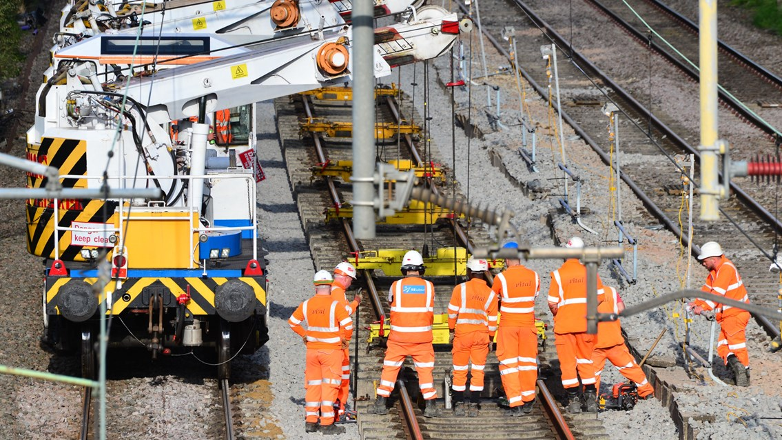 Passengers thanked after major Trent Valley Line railway upgrade: Trent Valley line track upgrade