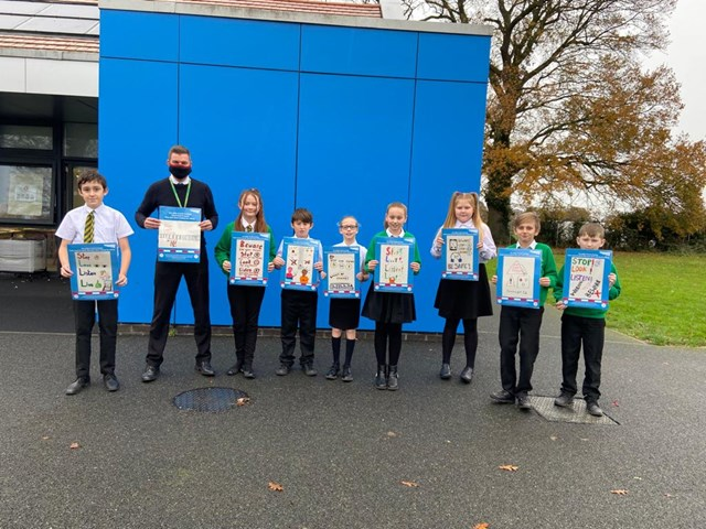 Community Rail Partnerships launch new safety poster initiative with Network Rail: Lingwood Primary safety poster initiative