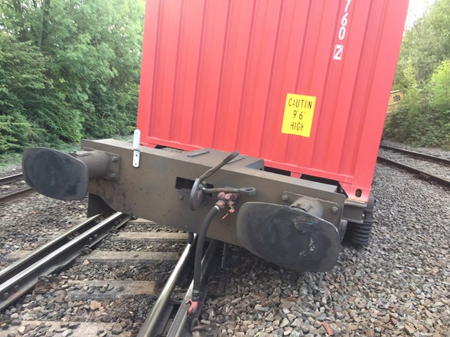 Coleshill derailed freight train-5