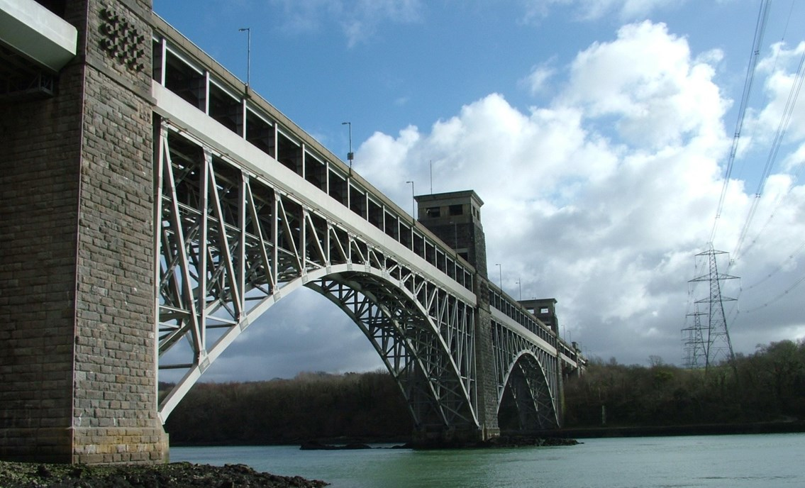 Britannia Bridge refurbishment set to begin protecting vital rail link for future generations: Britannia Bridge photo