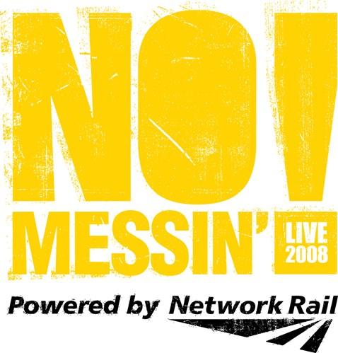 No Messin Live Logo Yellow