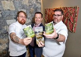 JP McMahon, Director of Eat Galway Restaurant Group, with Alan Russell, Gather & Gather Director of Operations and Mark Anderson, Gather & Gather Culinary Director.: JP McMahon, Director of Eat Galway Restaurant Group, with Alan Russell, Gather & Gather Director of Operations and Mark Anderson, Gather & Gather Culinary Director.