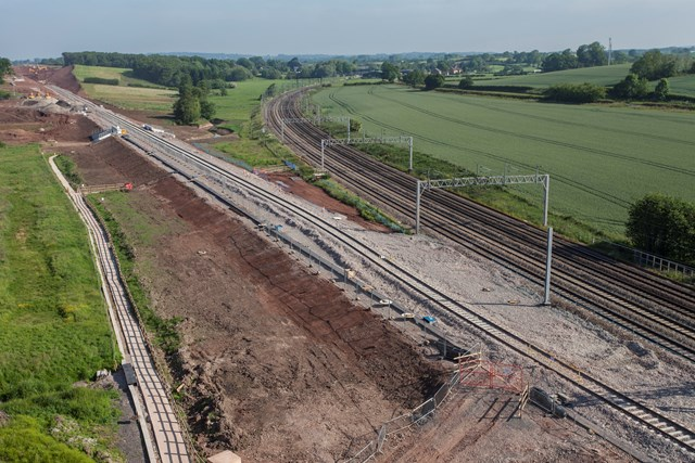 August bank holiday signals second stage in Stafford rail development: New sidings installed at Norton Bridge
